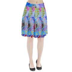 Wallpaper Stained Glass Pleated Skirt