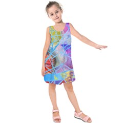 Wallpaper Stained Glass Kids  Sleeveless Dress