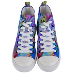 Wallpaper Stained Glass Women s Mid Top Canvas Sneakers