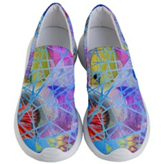 Wallpaper Stained Glass Women s Lightweight Slip Ons
