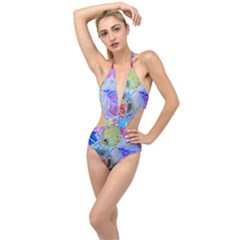 Wallpaper Stained Glass Plunging Cut Out Swimsuit