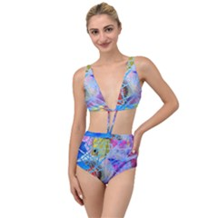 Wallpaper Stained Glass Tied Up Two Piece Swimsuit