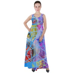 Wallpaper Stained Glass Empire Waist Velour Maxi Dress