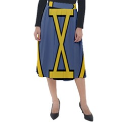 United States Army 10th Infantry Division Insignia Classic Velour Midi Skirt