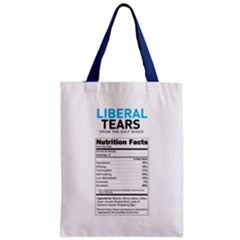 Liberal Tears  Funny With Supplement Facts Custom Colors Classic Tote Bag by snek