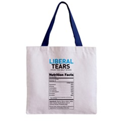 Liberal Tears  Funny With Supplement Facts Custom Colors Zipper Grocery Tote Bag