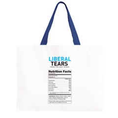 Liberal Tears  Funny With Supplement Facts Custom Colors Zipper Large Tote Bag by snek