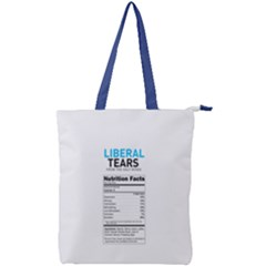 Liberal Tears  Funny With Supplement Facts Custom Colors Double Zip Up Tote Bag by snek