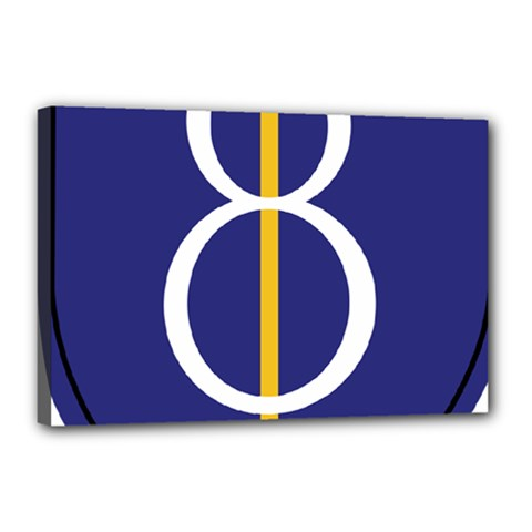United States Army 8th Infantry Division Shoulder Sleeve Insignia Canvas 18  X 12  (stretched) by abbeyz71