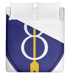 United States Army 8th Infantry Division Shoulder Sleeve Insignia Duvet Cover (queen Size)