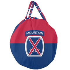 Flag Of United States Army 10th Mountain Division Giant Round Zipper Tote