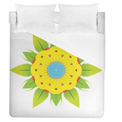 Abstract Flower Duvet Cover (queen Size)