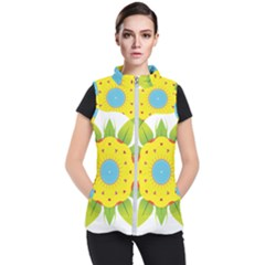 Abstract Flower Women s Puffer Vest by Alisyart