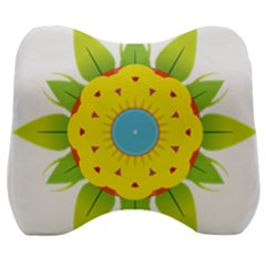Abstract Flower Velour Head Support Cushion