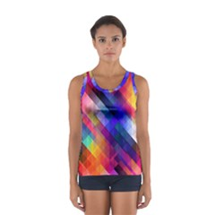 Abstract Background Colorful Sport Tank Top  by Alisyart