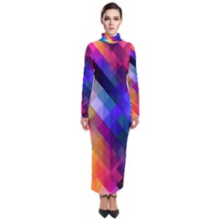 Abstract Background Colorful Turtleneck Maxi Dress by Alisyart