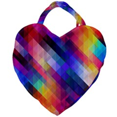 Abstract Background Colorful Giant Heart Shaped Tote
