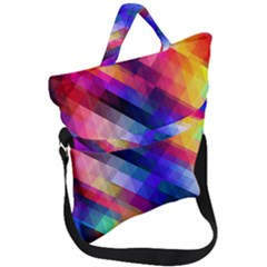 Abstract Background Colorful Fold Over Handle Tote Bag by Alisyart