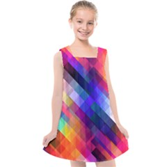 Abstract Background Colorful Kids  Cross Back Dress by Alisyart