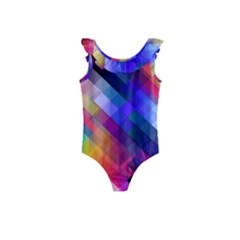 Abstract Background Colorful Kids  Frill Swimsuit by Alisyart