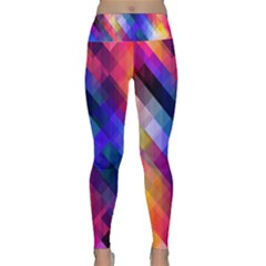 Abstract Background Colorful Lightweight Velour Classic Yoga Leggings