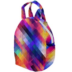 Abstract Background Colorful Travel Backpacks