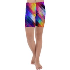 Abstract Background Colorful Kids  Lightweight Velour Capri Yoga Leggings by Alisyart