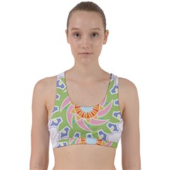 Abstract Flower Mandala Back Weave Sports Bra by Alisyart