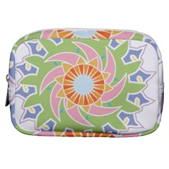 Abstract Flower Mandala Make Up Pouch (small) by Alisyart