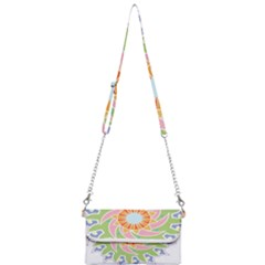 Abstract Flower Mandala Mini Crossbody Handbag