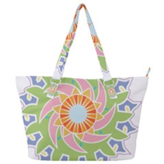 Abstract Flower Mandala Full Print Shoulder Bag