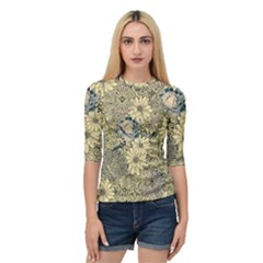 Abstract Art Botanical Quarter Sleeve Raglan Tee
