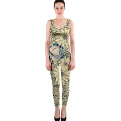 Abstract Art Botanical One Piece Catsuit