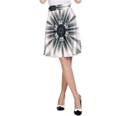 Abstract Fractal Space A-line Skirt