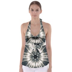 Abstract Fractal Space Babydoll Tankini Top