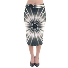 Abstract Fractal Space Midi Pencil Skirt