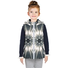 Abstract Fractal Space Kids  Hooded Puffer Vest