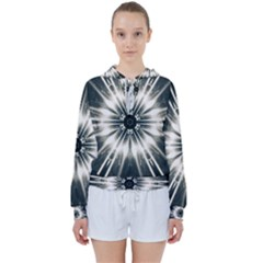 Abstract Fractal Space Women s Tie Up Sweat