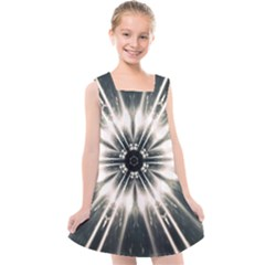 Abstract Fractal Space Kids  Cross Back Dress