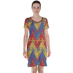 Aztec South American Pattern Zig Short Sleeve Nightdress