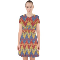 Aztec South American Pattern Zig Adorable In Chiffon Dress
