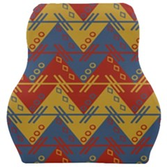 Aztec South American Pattern Zig Car Seat Velour Cushion