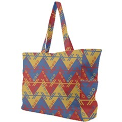 Aztec South American Pattern Zig Simple Shoulder Bag