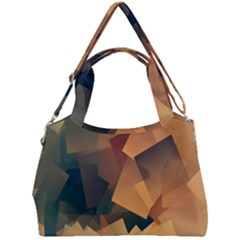Background Triangle Double Compartment Shoulder Bag by Alisyart