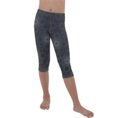 Background Star Pattern Kids  Lightweight Velour Capri Leggings  by Alisyart