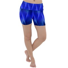 Audio Sound Soundwaves Art Blue Lightweight Velour Yoga Shorts