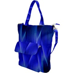 Audio Sound Soundwaves Art Blue Shoulder Tote Bag by Alisyart