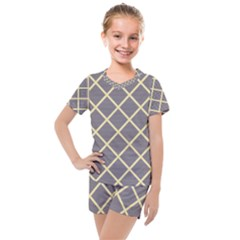 Background Kids  Mesh Tee And Shorts Set by Alisyart