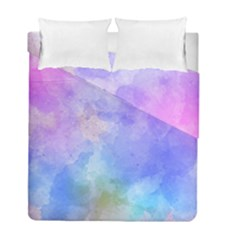 Background Abstract Purple Watercolor Duvet Cover Double Side (full/ Double Size)