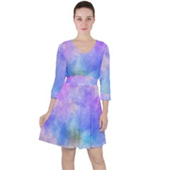 Background Abstract Purple Watercolor Ruffle Dress by Alisyart